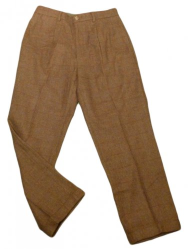 Mens Multi-Color NAUTICA Classic Fit Pleated Dress Pants 33 X 29 1/4 Wool Blend