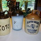 Original McCORMICK Platte Valley Straight Corn Whiskey Stoneware Jug ++ SCOTCH