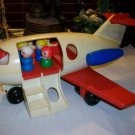 Vintage FISHER PRICE Play Family AIRPLANE Fun JET 1970 People CHRISTMAS BOY GIRL