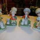 """4 pc"" Vintage HOMCO Porcelain Figurine / # 1430 / Boy ~ Girl Kitten & Puppy"