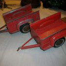 Pair of Vintage DIE CAST RED HUBLEY TRAILERs  #800  HOT WHEELS TONKA TRUCK ~Boys