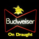 Vintage BUDWEISER DRAUGHT Beer NEON LIGHT SIGN ~MANCAVE ~Anheuser Busch Tavern