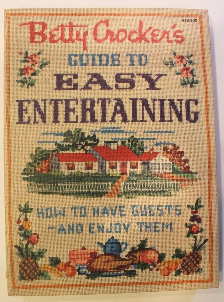 Vintage Betty Crocker's Cookbooks Guide to Easy Entertaining 1959 First Ed Illus