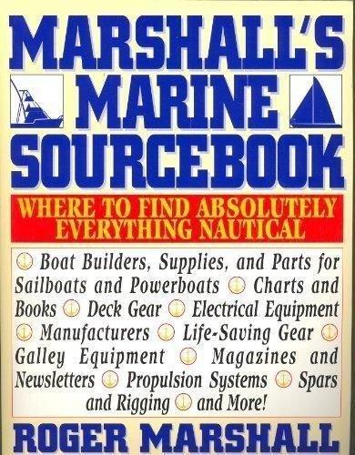 MARSHALL'S MARINE SOURCEBOOK By Roger Marshall  ~Nautical & Boating