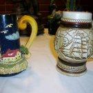 VTG 1982 Avon BOAT NAUTICAL LIGHTHOUSE Stoneware BEER Steins  ~2~ SEAGULLS SHIP
