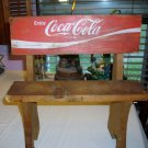 Vintage COCA COLA COKE Red Wooden Crate Folk Art Bench for DOLLS  BEARS Original