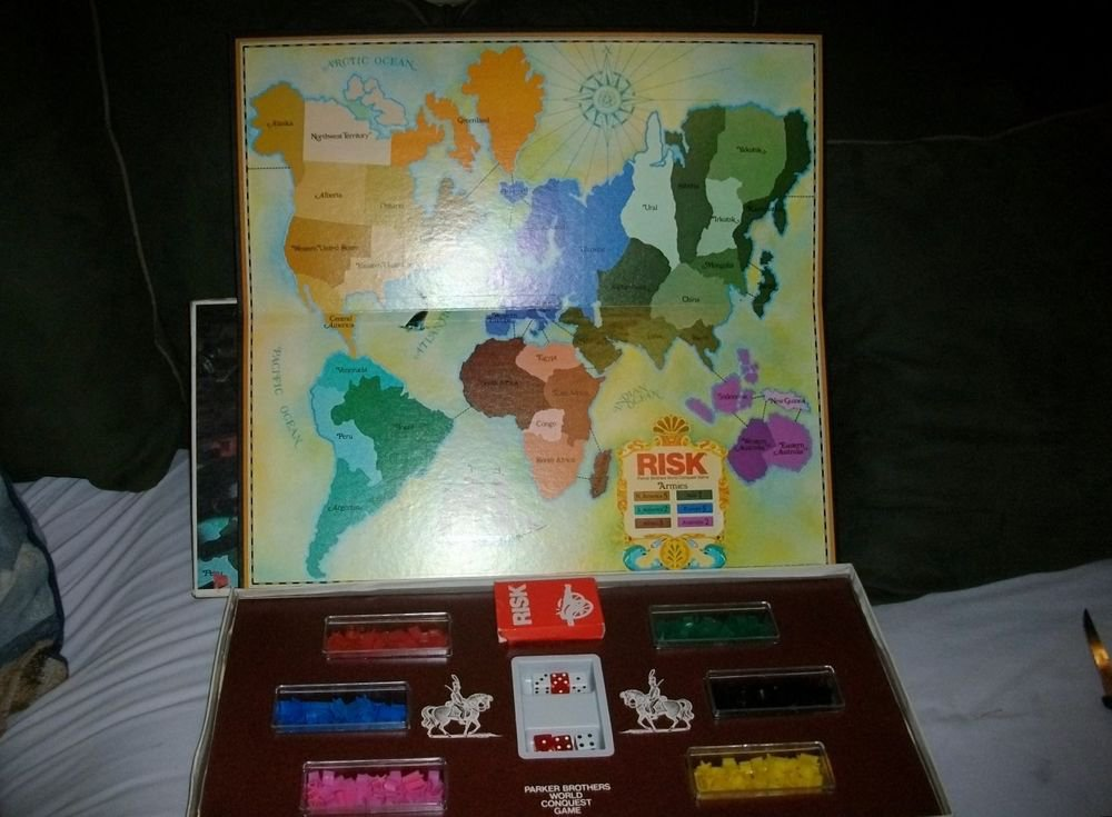 "VINTAGE 1975 ""RISK"" PARKER BROTHERS WORLD CONQUEST GAME COMPLETE w/ORIGINAL BOX"