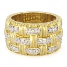 0.35ct Round Diamond Right-Hand Heavy Fashion Band 14k Yellow & White Gold Ring