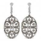 3.79 ct Dangling Earrings CZ Crystal 925 Sterling Silver Victorian Reproduction