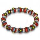 Venetian Millefiori Murano Glass Bead Stretch Bracelet