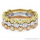 0.33ct Round Cut Diamond Stackable Fashion Rings in 14k White Yellow & Rose Gold