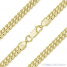 4.9mm Miami Cuban Curb Link Italy Sterling Silver 14k Yellow Gold Chain Necklace
