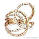 0.48 ct Round Cut Diamond Right-Hand Overlap Loop Fashion Ring in 14k Rose Gold