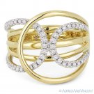 0.33ct Round Cut Diamond Right-Hand Loop Fashion Ring in 14k Yellow & White Gold