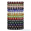 Faceted Resin Crystal Beaded Stretch Bracelet Austrian Czech CZ - Single-Colors
