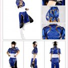 Street Fighter Chun Li Classic Blue Dress Anime Lolita Women Cosplay Costume