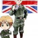 Hetalia Axis Powers England Cosplay Costume Women Uniform
