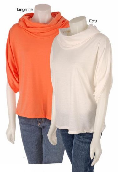 Ashley Stewart Plus Size Cowl Neck Top