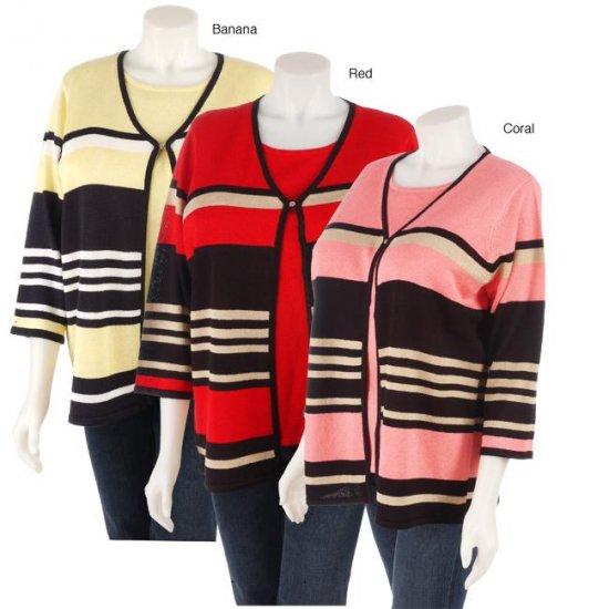 Sag Harbor Plus Size Duet Sweater