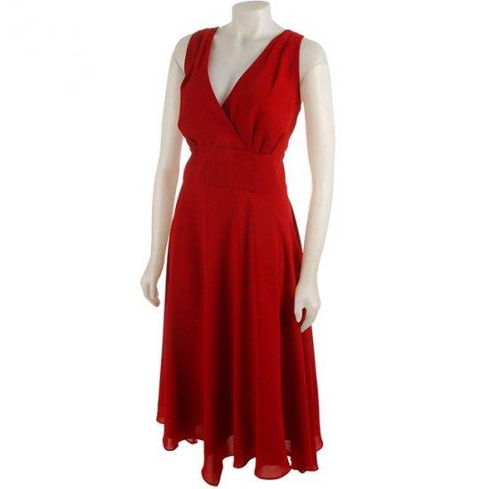 Donna Ricco Plus Size Halter Dress Cardinal
