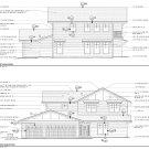 Custom Farmhouse Home plans 2 Story 4Bd Office 3Bth 3CarGar, 3638 Sq. Ft. Total AutoCAD files