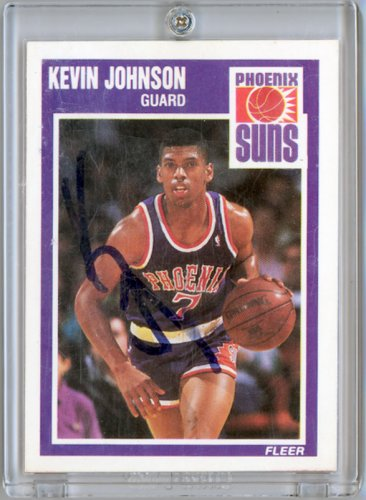 1989 90 Fleer Kevin Johnson Rookie Autograph Card