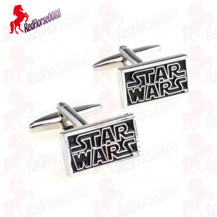 Star Wars Silver Plated and Black Cufflinks FREE Gift Box � Wedding, Birthday Gift