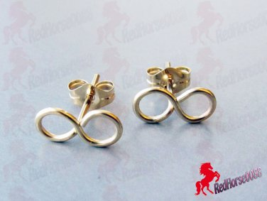 Gold Plated INFINTY Earrings _ BC-14G