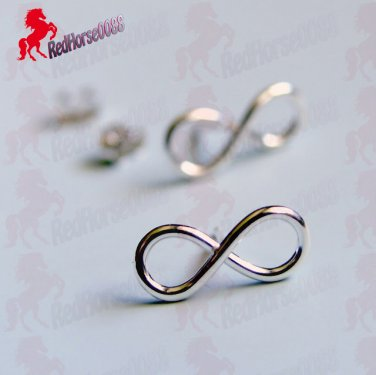 Silver Plated INFINTY Earrings _ BC-14S