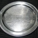 "15"" Round Silverplate (Hollowware) Serving Tray by Leanard Silver Mfg Co,"