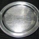 "15"" Round Silverplate (Hollowware) Serving Tray by Leanard Silver Mfg Co,"