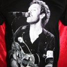 !! FREE SHIPPING!! COLDPLAY British rock band Chris Martin handmade black t shirt size L