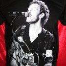 !! FREE SHIPPING!! COLDPLAY British rock band Chris Martin handmade black t shirt size XL