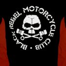 !! FREE SHIPPING!! Black Rebel Motorcycle Club rock band BRMC handmade black t shirt size L