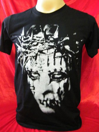 !! FREE SHIPPING!! Slipknot American heavy metal band handmade black t shirt size S