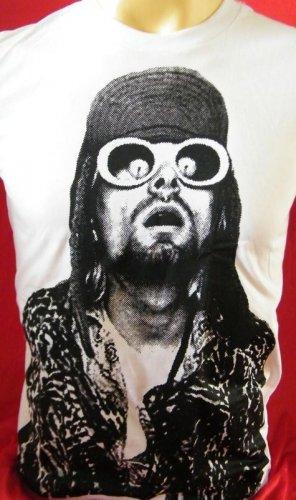 !! FREE SHIPPING!! NIRVANA music punk rockstar BAND Kurt Cobain mens,womens t shirt size S