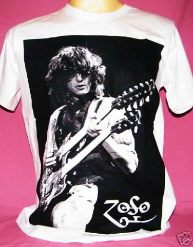 !! FREE SHIPPING!! LED ZEPPELIN rock n roll music band Jimmy Page ZOSO t shirt men women size S