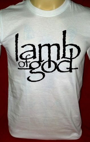 !! FREE SHIPPING!! Lamb of God American heavy metal band handmade white t shirt size M