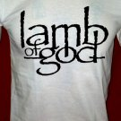 !! FREE SHIPPING!! Lamb of God American heavy metal band handmade white t shirt size L