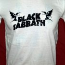 !! FREE SHIPPING!! Black Sabbath heavy rock band Ozzy Osbourne handmade white t shirt size L