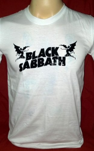 !! FREE SHIPPING!! Black Sabbath heavy rock band Ozzy Osbourne handmade white t shirt size XL