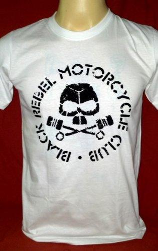 !! FREE SHIPPING!! Black Rebel Motorcycle Club rock band BRMC handmade white t shirt size L
