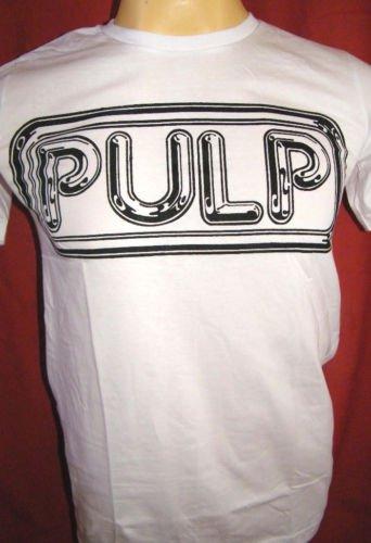 !! FREE SHIPPING!! PULP alternative rock band white t shirt men's size S