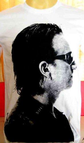 !! FREE SHIPPING!! BONO U2 Irish alternative rock band mens,womens t shirt size L