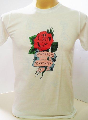 !! FREE SHIPPING!! Generation Terrorists Manic Street Preachers rock band white t shirt size XL