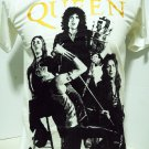 !! FREE SHIPPING!! Queen British rock band Freddie Mercury Brian May music white t shirt size L