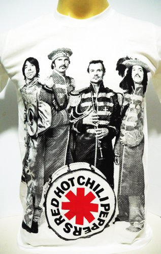 !! FREE SHIPPING!! Red Hot Chili Peppers American music rock band men t shirt size M