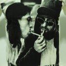 !! FREE SHIPPING!! Nirvana rock band Kurt Cobain Dave Grohl white music t shirt size L