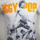 !! FREE SHIPPING!! Iggy Pop American singer punk hard rock band white t shirt size L