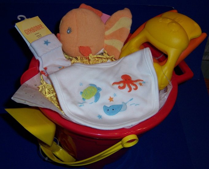 FUN IN THE SUN BABY SHOWER GIFT SET GYMBOREE AT THE BEACH